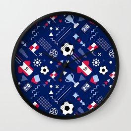 Love Football Background Wall Clock