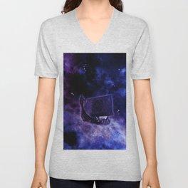 Cosmic Drakkar Illustration 2 Unisex V-Neck