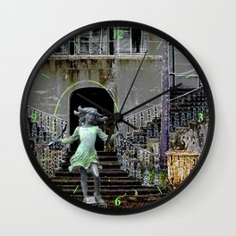 Ghost in a Madeira Mansion. Wall Clock