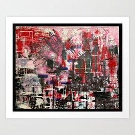 Red Cityscape Art Print