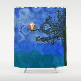 Owl Art by MiMi Stirn - Owl Singles #336 Shower Curtain