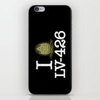 lv iPhone & iPod Skins featuring I Love LV-426 by Mike Handy Art