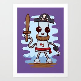 Pirate Ned Art Print