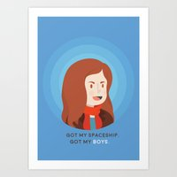 amy pond Art Prints featuring Amy Pond by Addie Thompson