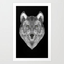 Wolf in the Dark Art Print
