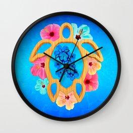 Hawaiian Blue Honu Sea Turtle Wall Clock