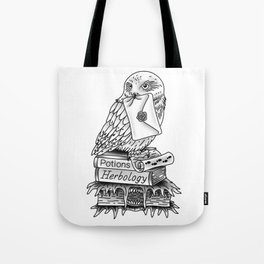 Hedwig On Books Tote Bag