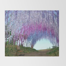 Wisteria beauty Throw Blanket
