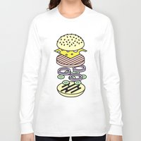 burger Long Sleeve T-shirts featuring Burger by Jan Luzar