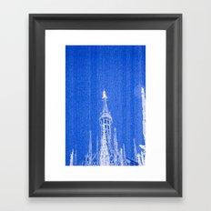 Night of Blue over Milan Framed Art Print