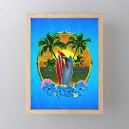 Tropical Sunset Framed Mini Art Print