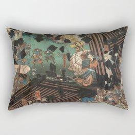 Battlescene Rectangular Pillow