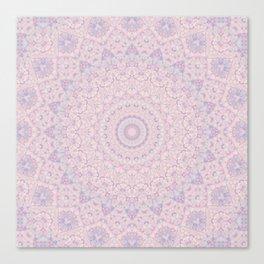Pastel Lilac and Pink Mosaic Canvas Print