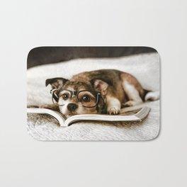 Nerd Dog Bath Mat