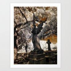 Cemetery Infrared Art Print