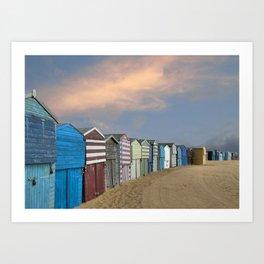 Beach Huts in Broadstairs Art Print