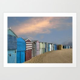 Beach Huts in Broadstairs Art Print