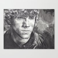 winchester Canvas Prints featuring Sam Winchester by Kristy Fleming