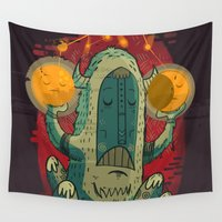 hero Wall Tapestries featuring :::Unlikely hero::: by Ilias Sounas