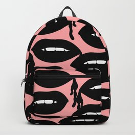 Bloody Lips in Pink Backpack