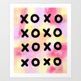 Lots of Love XOXO - Pink Modern Typography Art Print