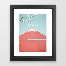 Vintage Japan Travel Poster Framed Art Print