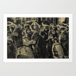 Group of Candombe Drummers at Carnival Parade of Uruguay Art Print