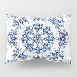 blue garden mandala Pillow Sham