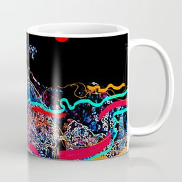 Neon waves Coffee Mug