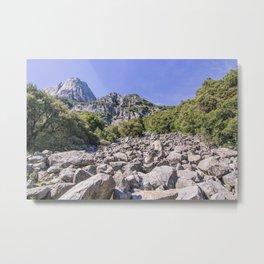 Yosemite Park Rocks Metal Print