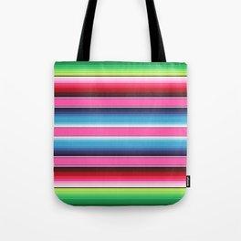Pink Green Blue Mexican Serape Blanket Stripes Tote Bag