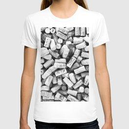 Something Nostalgic II Twist-off Wine Corks in Black And White #decor #society6 #buyart T-shirt