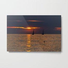 BALTIC SUNSET SOUND Metal Print