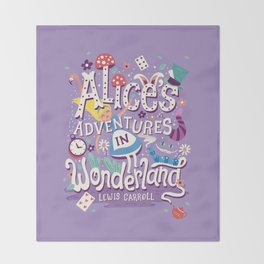 Alice's Adventures in Wonderland - Lewis Carroll Throw Blanket
