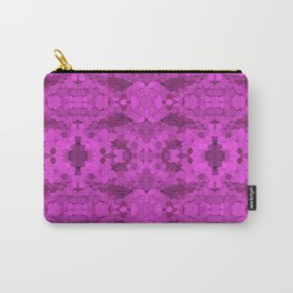 Fuschia Sequin Pattern Carry-All Pouch