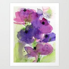 Purple Flowers in the Garden Art Print