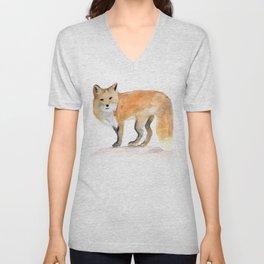 red fox Unisex V-Neck