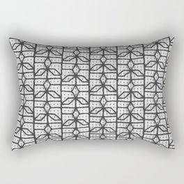 three point window grille design Rectangular Pillow