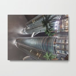 Singapore Petronas Towers Metal Print