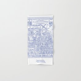 PRINCETON university map NEW JERSEY dorm decor Hand & Bath Towel