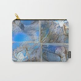 Frosty Spider Woman Blue Carry-All Pouch