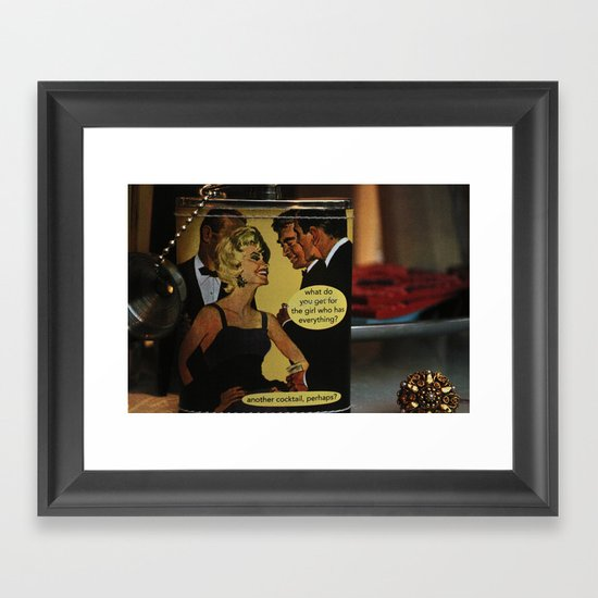 Another Cocktail Please Framed Art Print