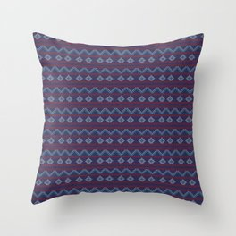 Blue And Red Knitted Christmas Decor Throw Pillow