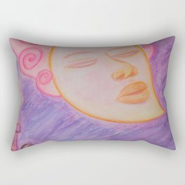 Moon and cat Rectangular Pillow