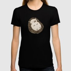 Plump Hedgehog Black SMALL Womens Fitted Tee