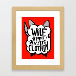 Wolf in Sheeps Clothing Framed Art Print