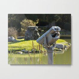 Pondside Panoramic Visor Metal Print