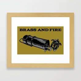 Brass and Fire Pressure Stove Framed Art Print