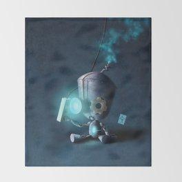 Glow Robot Throw Blanket