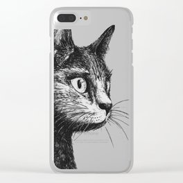 gato Clear iPhone Case